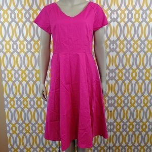 ILOVER Pink Short Sleeve Dress Size Large New